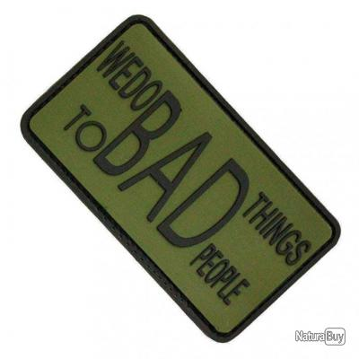 Morale patch We Do Bad Things NB Vert