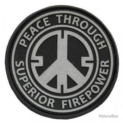 Morale patch Peace NB Noir
