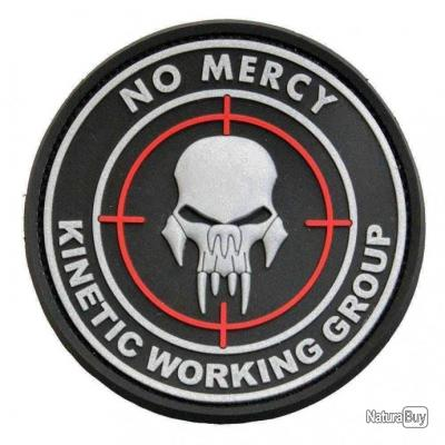 Morale patch No Mercy Kinetic Working Group NB Noir