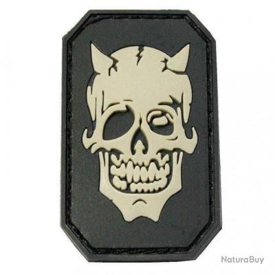 Morale patch Devil Face NB Noir