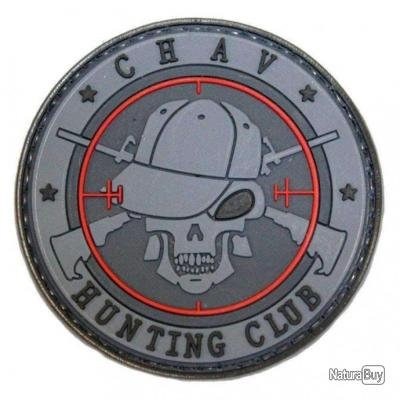 Morale patch Chav Hunting Club NB Noir