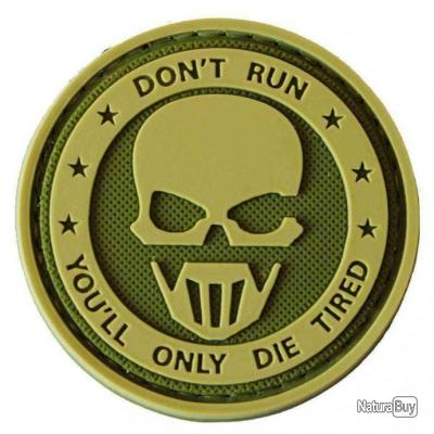 Morale patch Don'T Run Pvc NB Vert