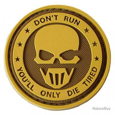 Morale patch Don'T Run Pvc NB Coyote