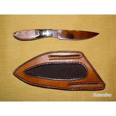 Couteau Hilmar modèle unique manche onyx-or hêtre stabilisé