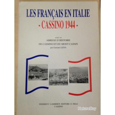 Rare Livre Les Francais En Italie Cassino 1944