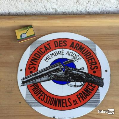 plaque maill e ancienne syndicat des armuriers sign e durafourg objets divers 2865693. Black Bedroom Furniture Sets. Home Design Ideas