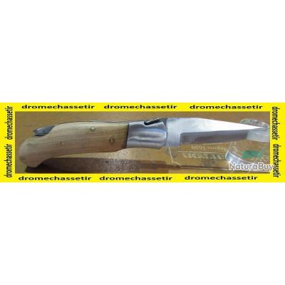 couteau de poche pliant avec manche en olivier, type laguiole