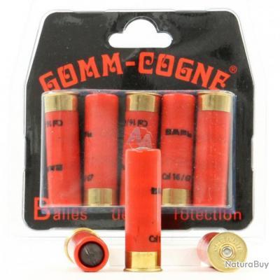 Munitions en  Blister de 5  GOMME  COGNE   Cal. 16/67 pour arme de défense