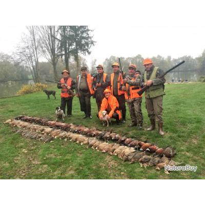 En Dombes journée et séjours de chasse et pêche au Domaine de Charlyne