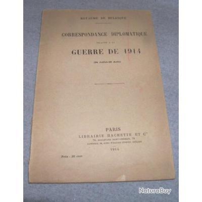 1 guerre 14 18 belgique guerre de 1914 correspondance diplomatique l - Vente correspondance belgique ...