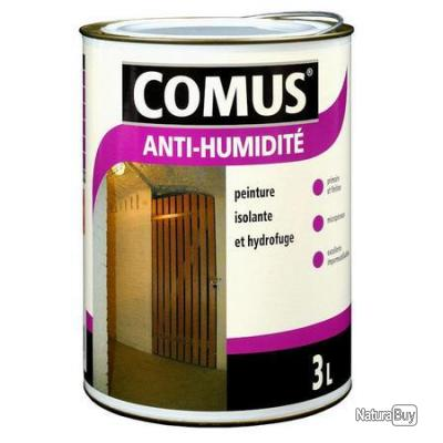 comus peinture isolante et hydrofuge anti humidite 3l mat blanc 17975 peinture ext rieure. Black Bedroom Furniture Sets. Home Design Ideas