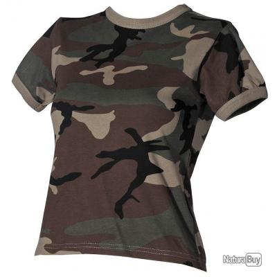 taille xxl tshirt tee shirt femme us camouflage woodland coton tee shirts militaria 2906479. Black Bedroom Furniture Sets. Home Design Ideas