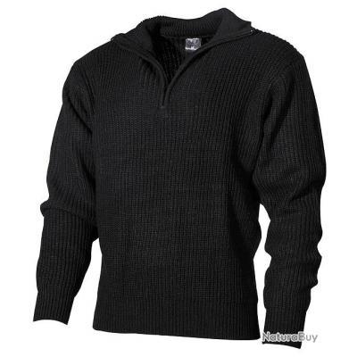 taille l pull over noir homme troyen camionneur tricot. Black Bedroom Furniture Sets. Home Design Ideas