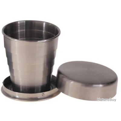 gobelet telescopique acier inoxydable 40ml accessoires divers 2908674. Black Bedroom Furniture Sets. Home Design Ideas