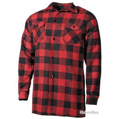 taille m chemise coton type bucheron carreaux rouge et. Black Bedroom Furniture Sets. Home Design Ideas