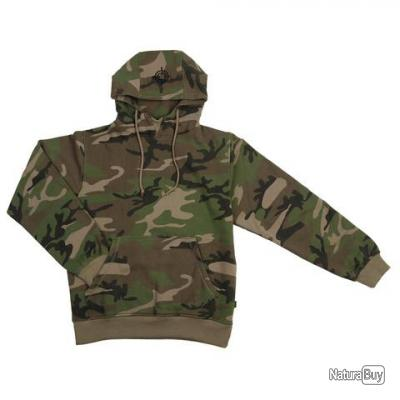 PULL - SWEAT  A CAPUCHE -  COULEUR CAMOUFLAGE - TAILLE 44 = M  - 131377