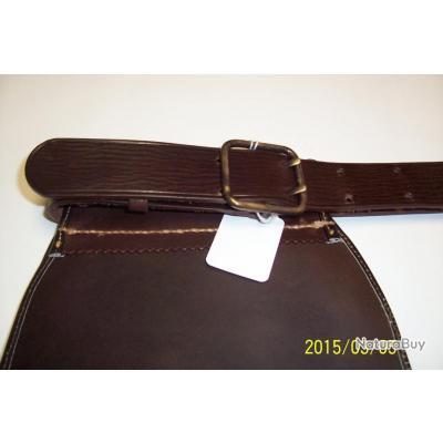 Double Sac à cartouche avec ceinture en cuir,