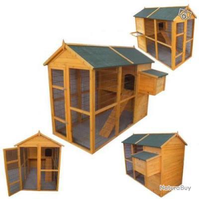poulailler xxl abri poule clapier caille coq lapin anti renard neuf 13cl poulaillers clapiers. Black Bedroom Furniture Sets. Home Design Ideas