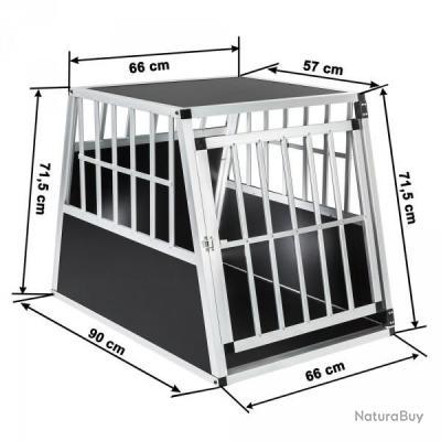 cage de transport chien aluminium pour transport en voiture single