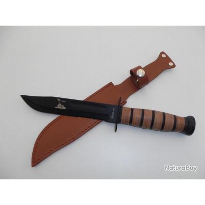 couteaux militaire de survie usmc de 30 5 cm avec tui. Black Bedroom Furniture Sets. Home Design Ideas