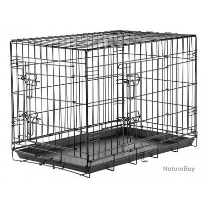 Cage de transport pour chien pliante