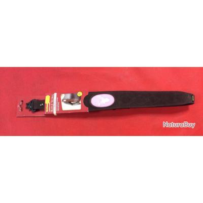 Bretelle pour fusil/carabine Allen cuir et écusson rose
