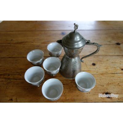 Service th ou caf alg rie 1950 vaisselle et verrerie - Service a the algerien ...