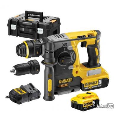 dewalt perforateur sds plus 18v li ion 5ah moteur sans. Black Bedroom Furniture Sets. Home Design Ideas