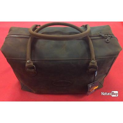 Petit sac de voyage en cuir marron foncé Artipel