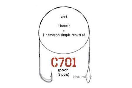 VMC AVANCON NYLFLEX 9kg vert 1 hame/çon double n/°2-40 cm 1 Boucle