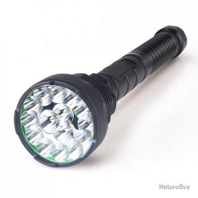 Lampe Torche Projecteur Ultra Puissante 15 Leds 18000 Lumens