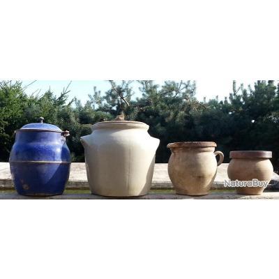4 jarres amphores en terre cuite ou m tal vaisselle et verrerie 3024957. Black Bedroom Furniture Sets. Home Design Ideas