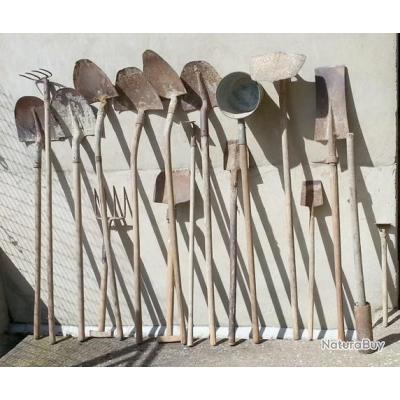 17 pelles et outils complémentaires jardin, entretien, culture ...