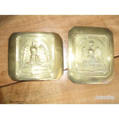 Belles Plaques de ceinturon et de baudrier de la Gendarmerie Impériale  Second Empire 750a168825a