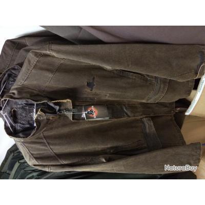 Veste SOMLYS 460 CHAMBORD façon cuir vieilli XL