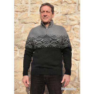 Pull laine jacquard nordique Homme