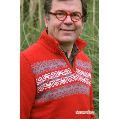 pull laine jacquard norv gien mixte femme ou homme rouge pulls et sweat 3070442. Black Bedroom Furniture Sets. Home Design Ideas