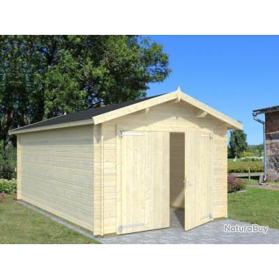 garage en bois atelier sur mesure les chalets de l ecureuil tence abris de jardin 3088007. Black Bedroom Furniture Sets. Home Design Ideas