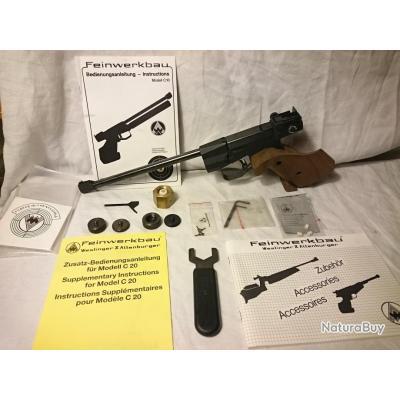 pistolet de tir de comp tition feinwerkbau modele c20. Black Bedroom Furniture Sets. Home Design Ideas