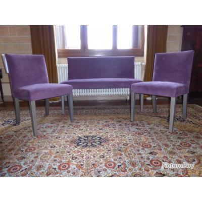 Salon Design Verona Deux Chaises Et Une Banquette