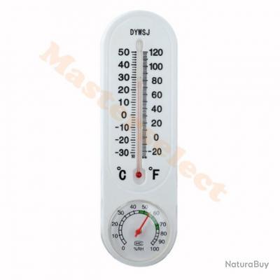 Thermometre hygrometre mural pour exterieur interieur for Thermometre interieur pas cher