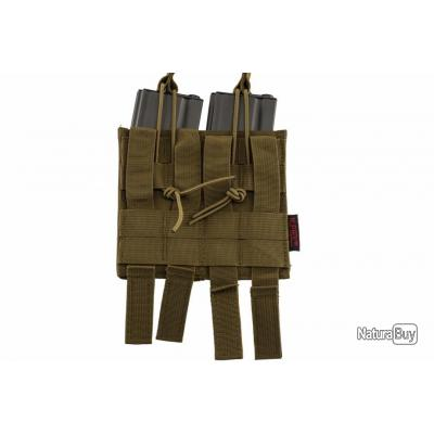 Double poche molle pour chargeur M4 tan Nuprol