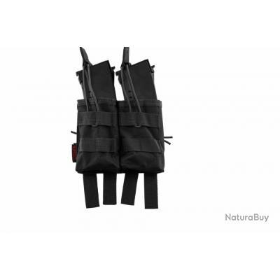 Double poche molle pour chargeur AK noir Nuprol