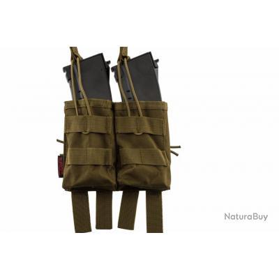 Double poche molle pour chargeur AK tan Nuprol