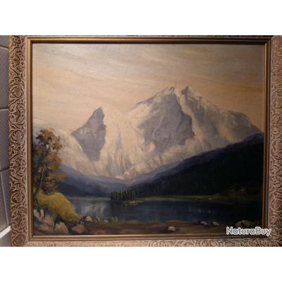 magnifique tableau huile sur toile signe berger huiles 3122383. Black Bedroom Furniture Sets. Home Design Ideas