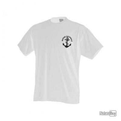 t l tshirt tee shirt marine nationale blanc tee shirts militaria 3143832. Black Bedroom Furniture Sets. Home Design Ideas