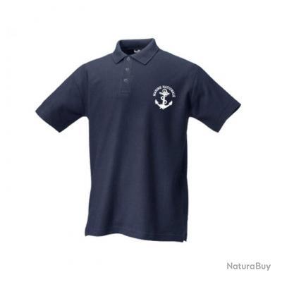 t m polo marine nationale bleu marine manches courtes tee shirts et polos militaria 3143975. Black Bedroom Furniture Sets. Home Design Ideas