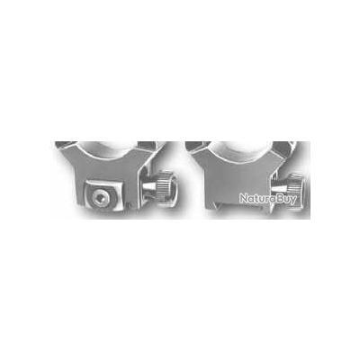 Montage EAW à glissiére en deux piéces avec colliers de 30 mm pour Brno Fox avec rail de 16,5 mm