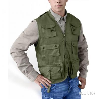 grande remise juste prix style distinctif Taille M - Gilet Reporter Multi-Poches Outdoor Trekking Kaki ...