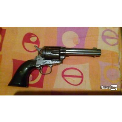 Colt 1873 en 38/40 Winchester,pacemaker avec sa finition nickel 50% original look old west